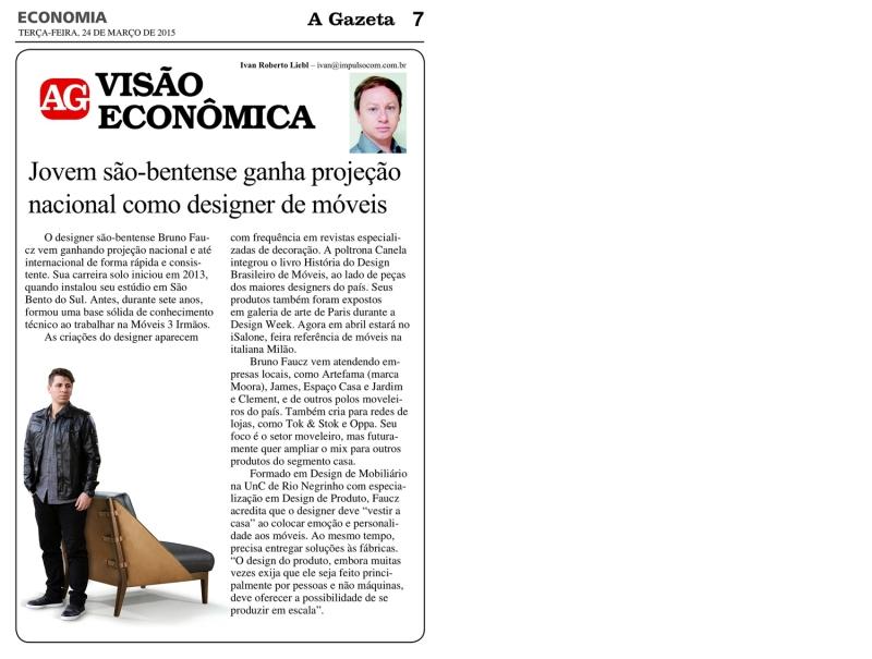 A Gazeta São Bento - Marços dia 24 - 2015