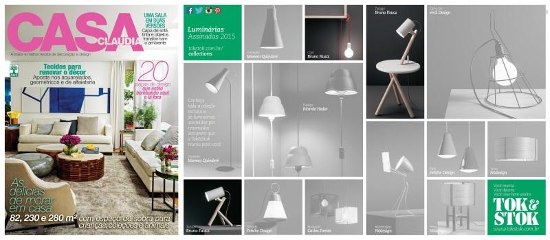 Casa Cláudia - outubro 2014 - divulgação coleção luminárias assinadas Tok&Stok
