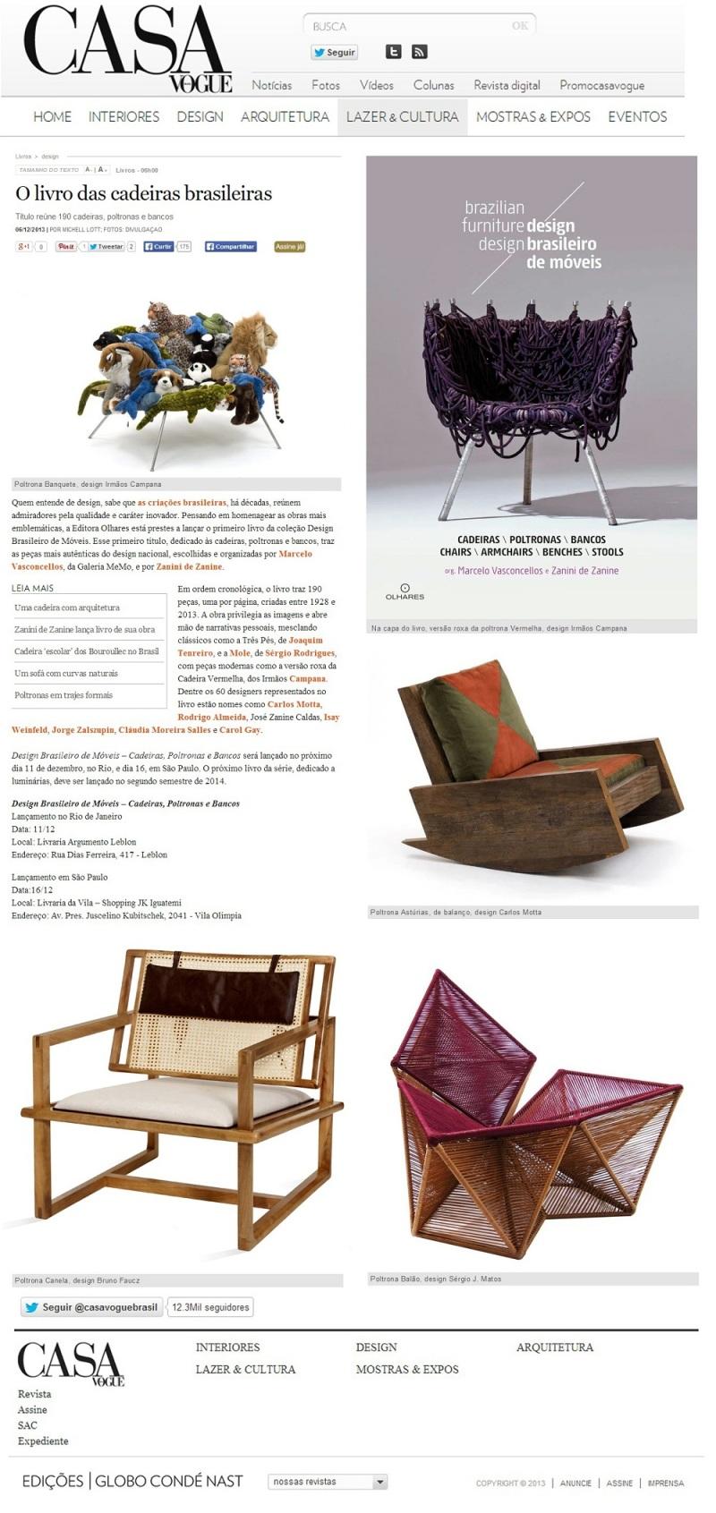 Casa Vogue anúncio Livro Design Brasileiro