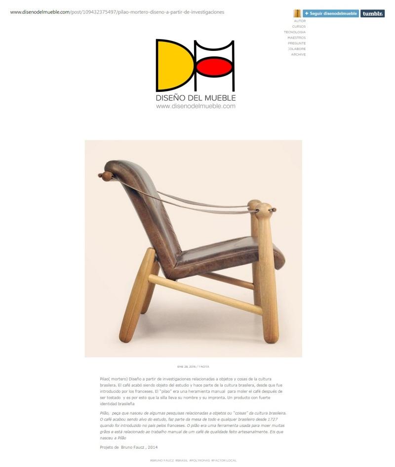 Publicação site Diseño de Muebles - Janeiro 2015